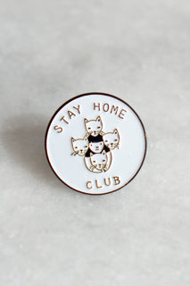 Stay Home Club Enamel Pin