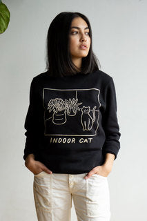 Indoor Cat Unisex Crewneck Sweatshirt