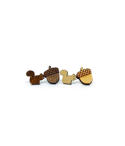 Squirrel & Acorn Studs