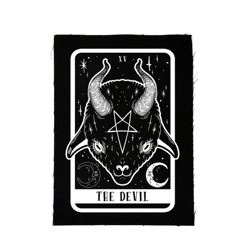 The Devil Tarot Baby Goat Canvas Patch