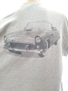 Restored automobile on T-shirt