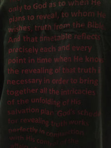 Bible lesson on a T-shirt