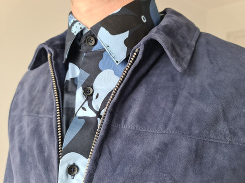 Selected Homme Blue Suede Jacket