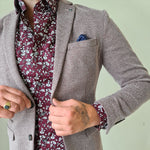 Matinique Wine Floral Shirt
