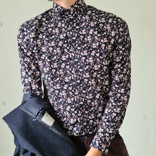 Matinique Navy Floral Shirt