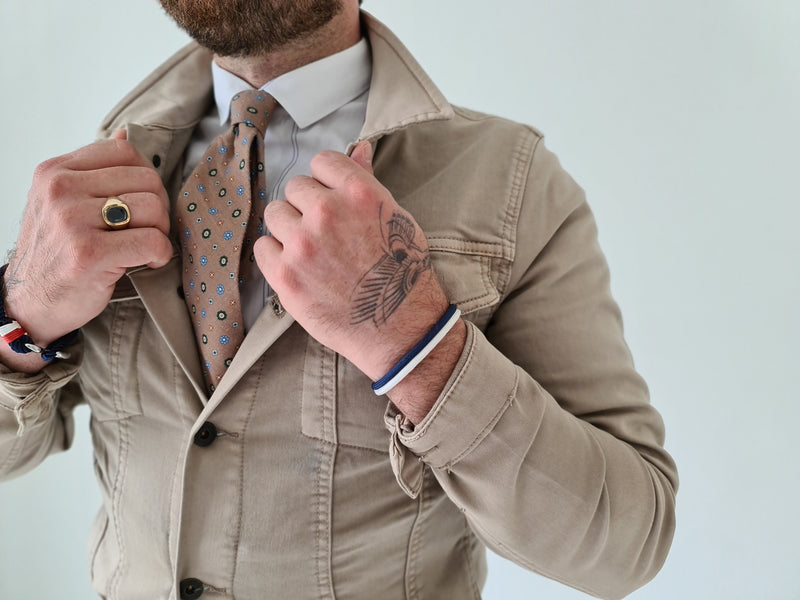 !Solid Cool Taupe Jacket Hybrid