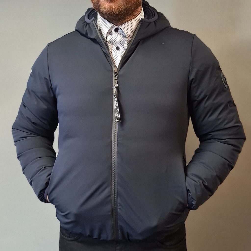 Markup Navy Hooded Waterproof Jacket