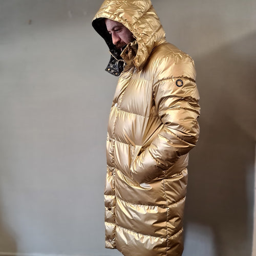 Markup Gold Longline Quilted Parka