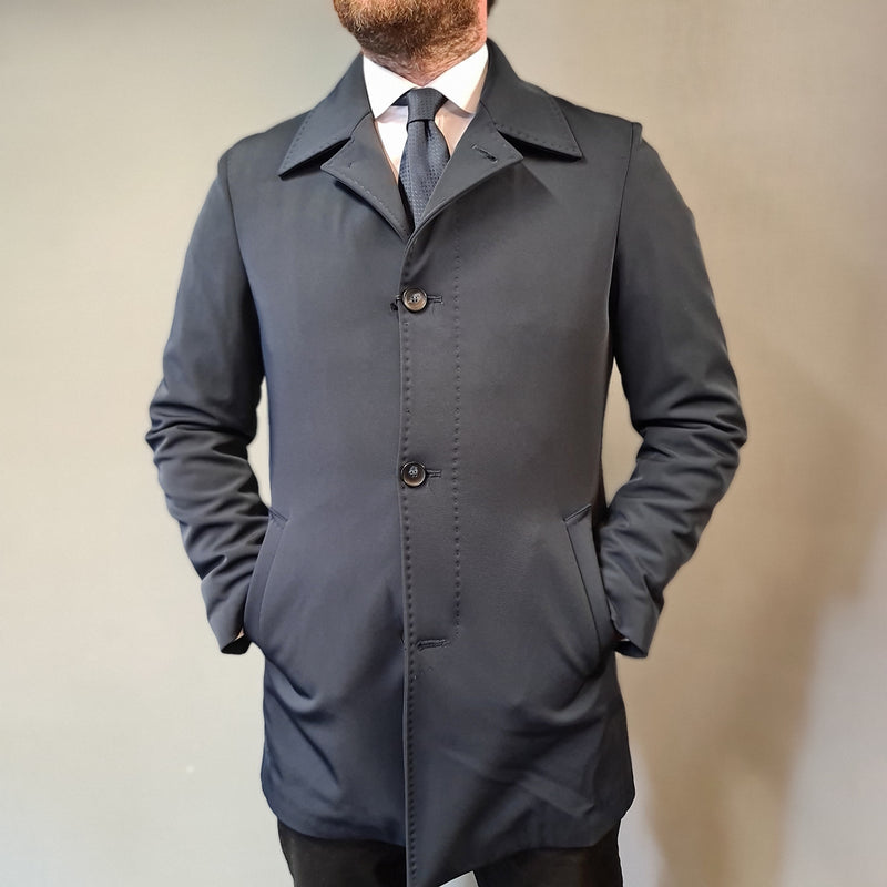 Mulish Navy Quilted Waterproof Overcoat
