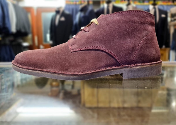 Selected Homme Suede Boot Burnt Red