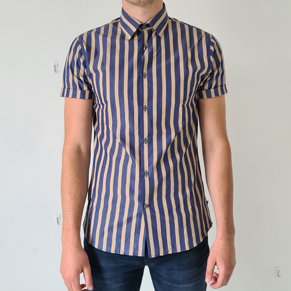 Matinique Robo Dust Blue Shirt