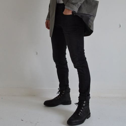 REPLAY SLIM FIT HYPERFLEX BLACK ANBASS JEANS CLOUDS