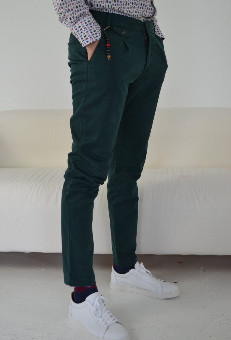 green slim chino trouser