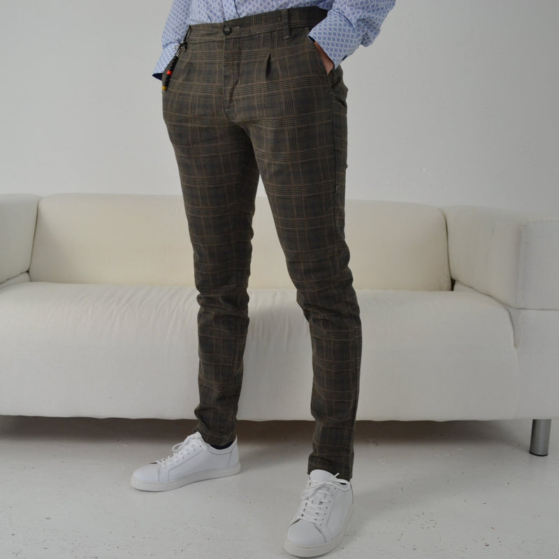 Kompressor Quadro Stampa Brown Check Chino
