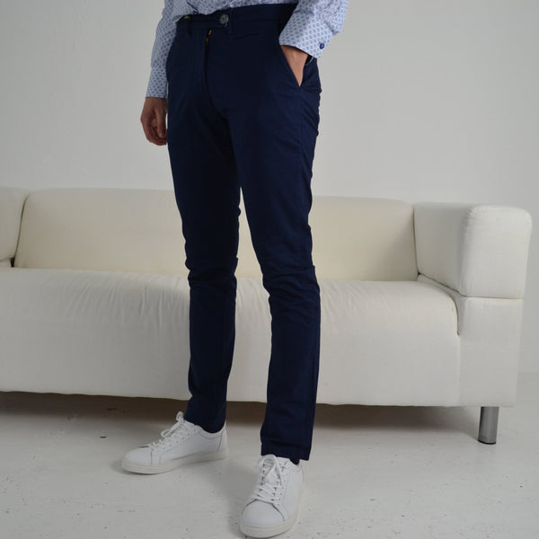 Herbie Frogg Navy Tapered Chino