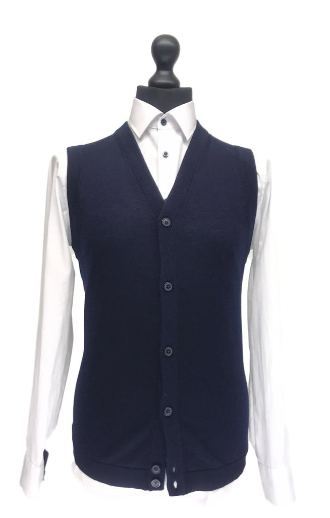 Selected Homme Thom Merino Sleeveless Cardigan