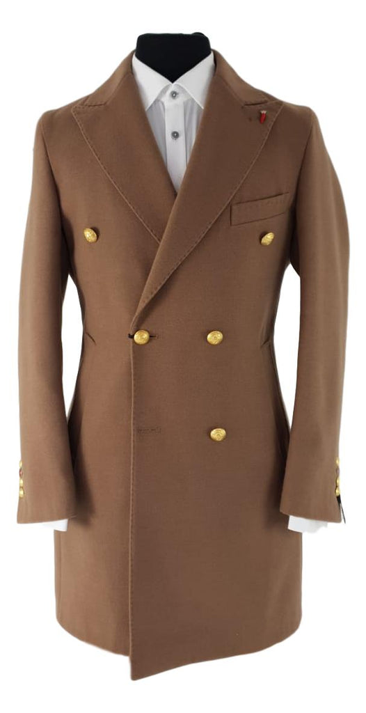 Mulish Double Breasted Tan Overcoat