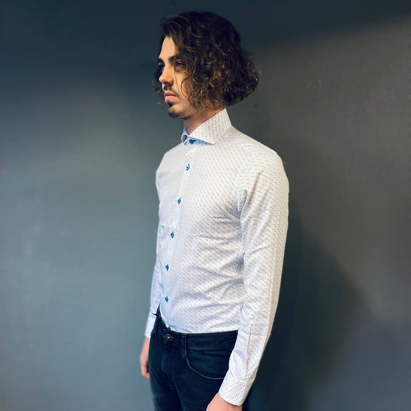 Remus Uomo Blue Sunflower Seed Shirt