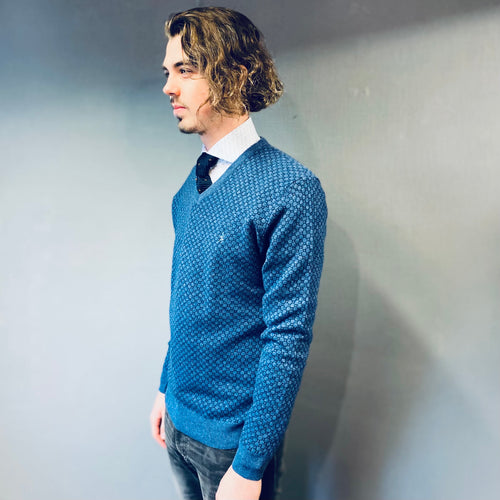 Sea Barrier Blue V-Neck Jumper