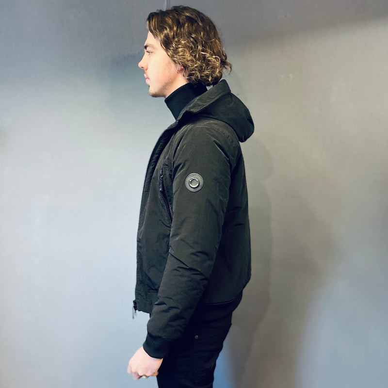 Markup Black Waterproof Hooded Jacket