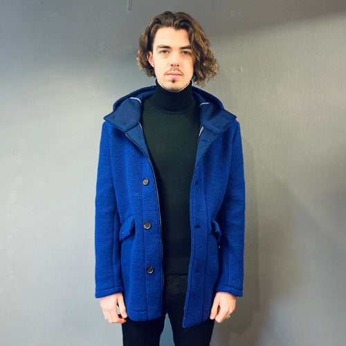 Markup Blue Hooded Teddy Parka