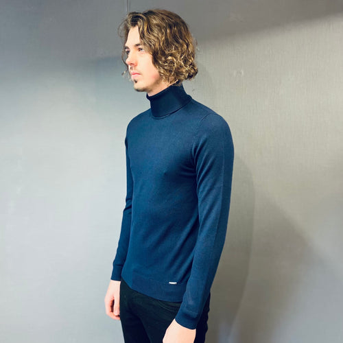 Markup Navy Knit Rollneck