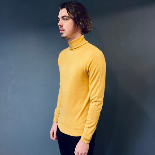 Markup Soft Touch Yellow Rollneck Jumper