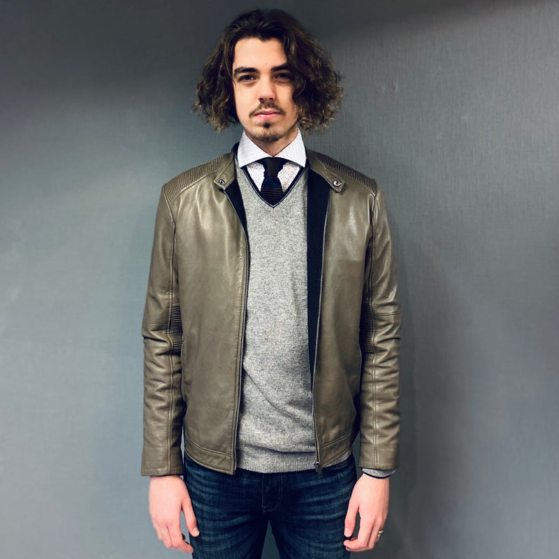 Selected Homme Sheffield Leather Jacket
