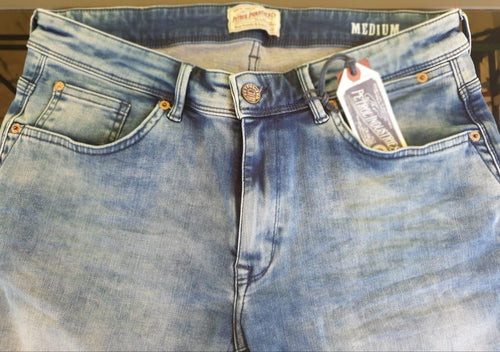 Petrol Denim Shorts Seaham Blue