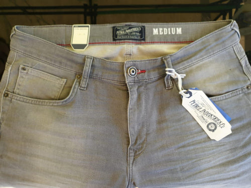 Petrol Denim Shorts Seaham Grey