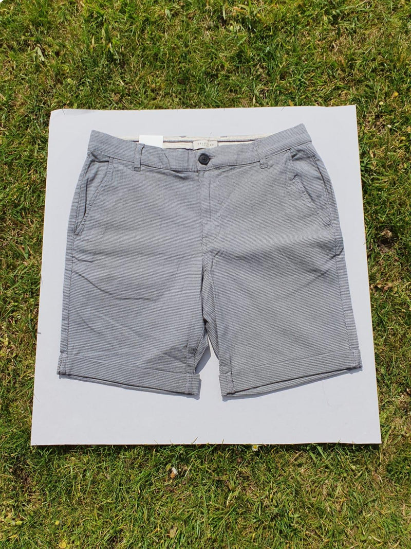 Selected Homme Straight Paris Grey Short