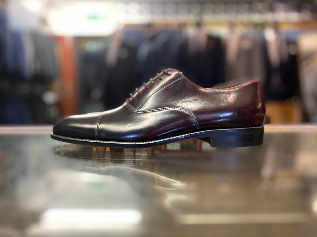 Lacuzzo Wine Black Derby Shoe