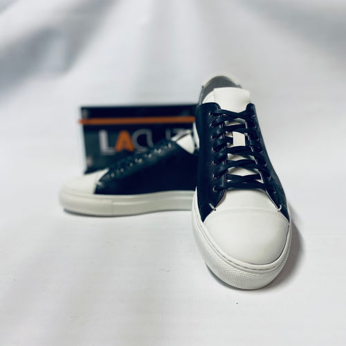 Lacuzzo White Navy Camo Trainers