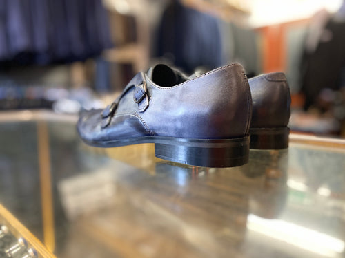 Lacuzzo Blue Grey Monk Strap