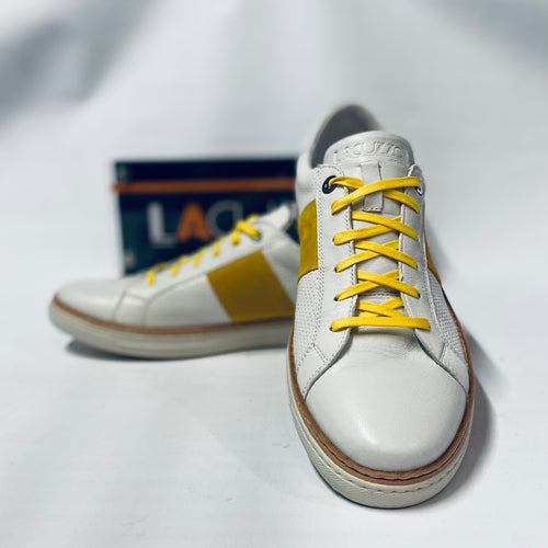 Lacuzzo White Mustard Trainers