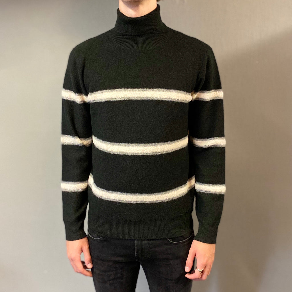Markup Black Fasce Knit Rollneck