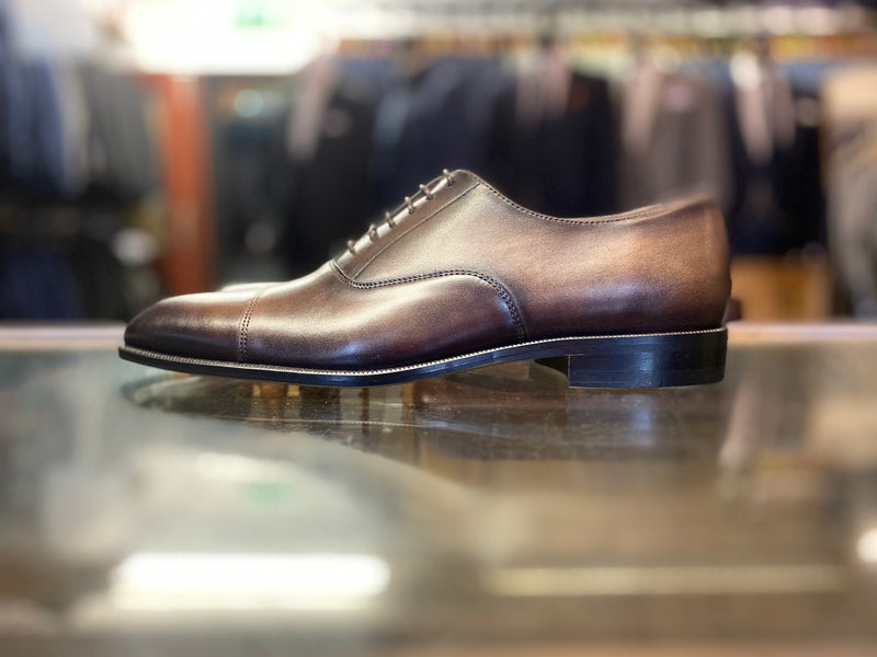 Lacuzzo Brown Marb Derby Shoe