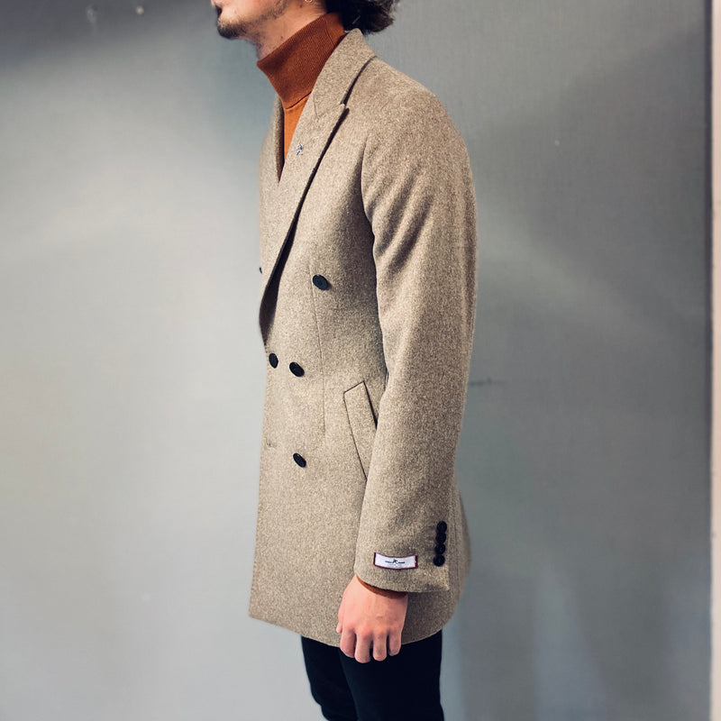 Herbie Frogg Oatmeal Double Breasted Overcoat