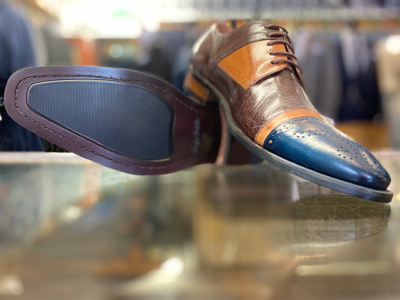 Sergio Duletti Navy Brown Tan Ronald