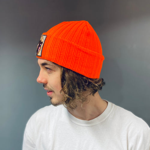 Orange Bear Beanie