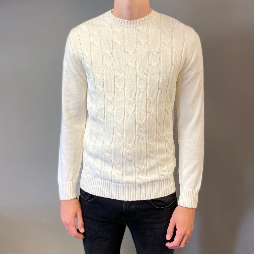 Markup Cream Trecce Knit Jumper