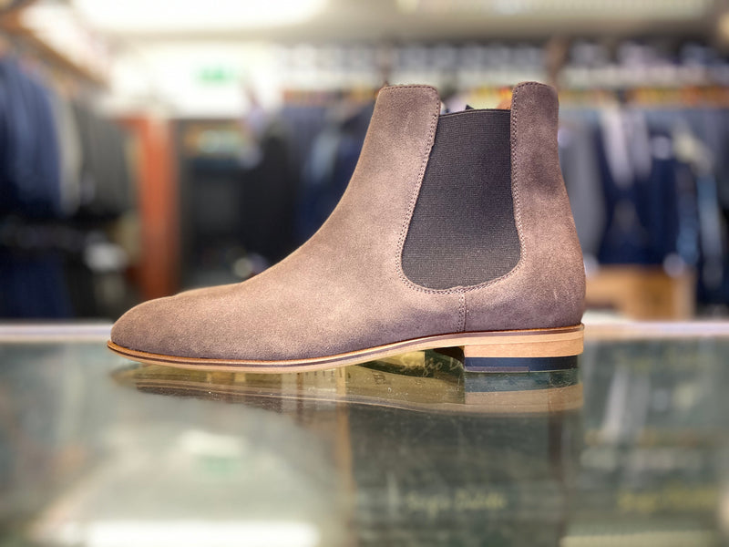 Lacuzzo Coffee Suede Chelsea Boot
