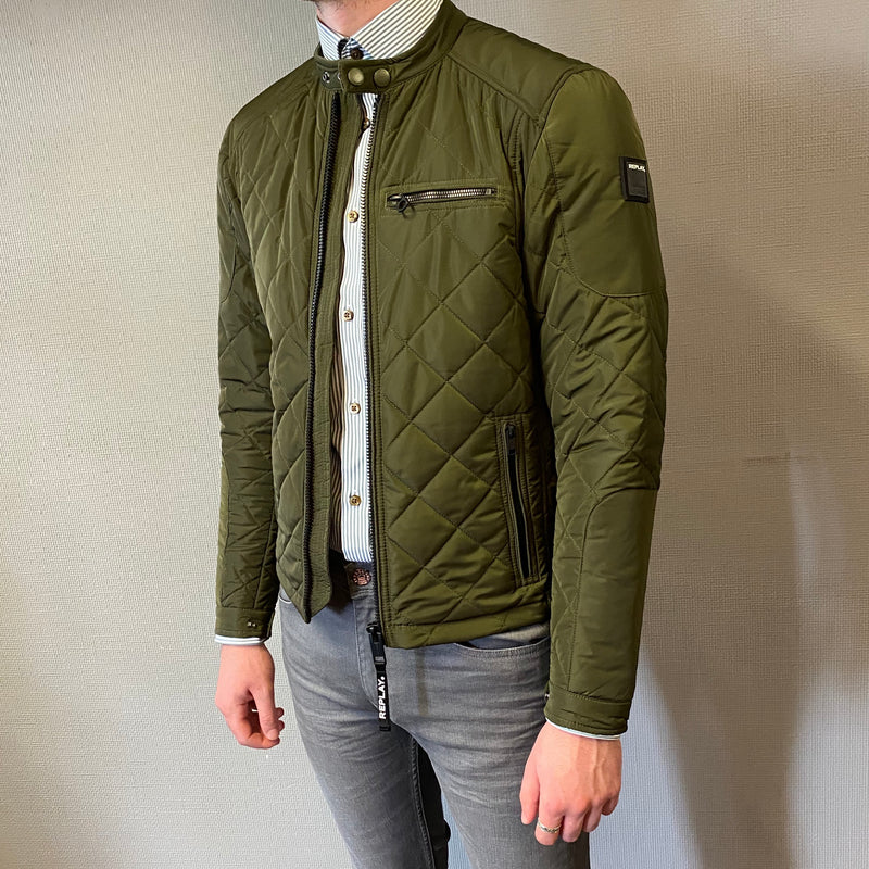 Replay Green Quilted Jacket