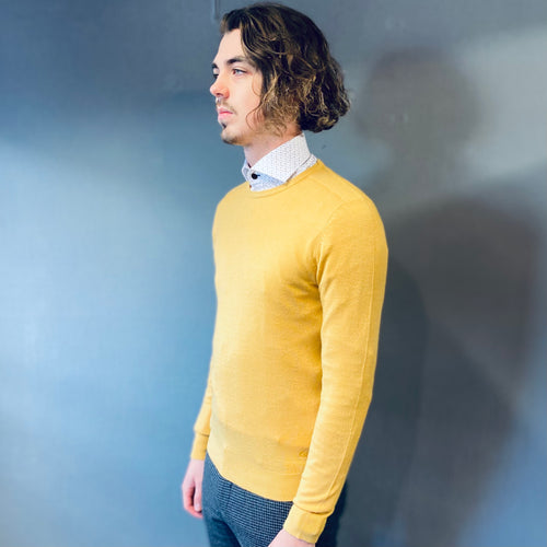 Markup Soft Touch Yellow Crewneck Jumper