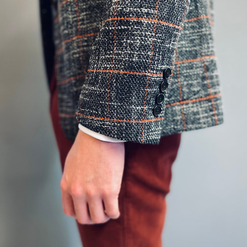 Markup Grey Orange Check Blazer