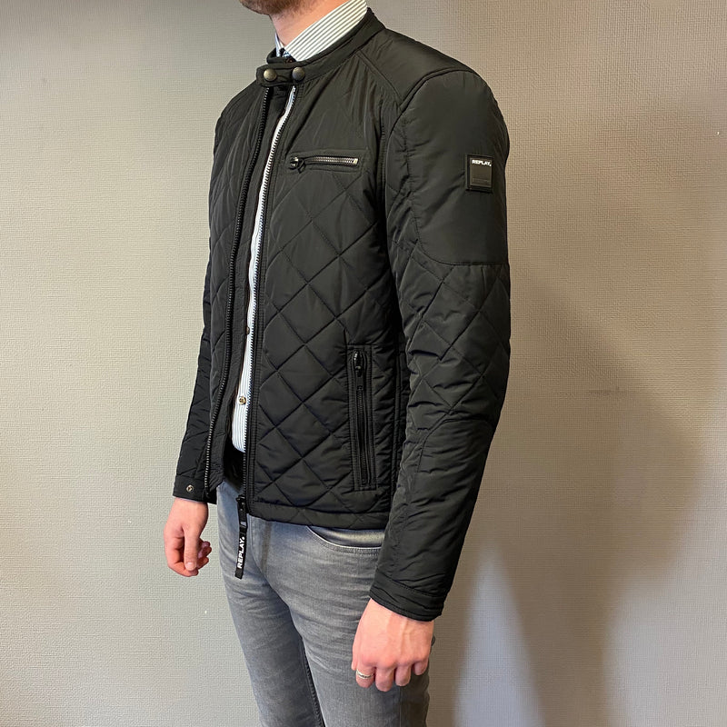 Replay Navy Quilted Jacket