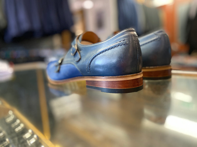 Lacuzzo Navy Blue Monk Strap