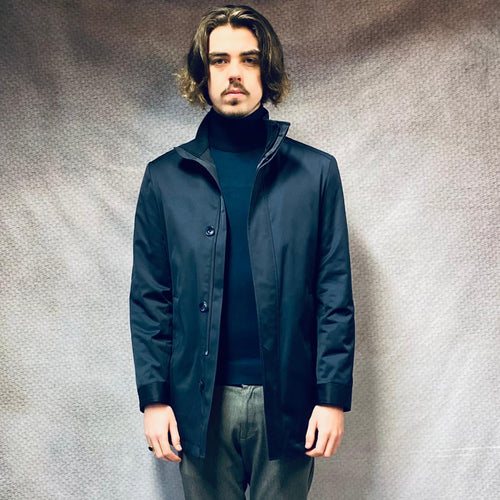 White Label Navy Carter Trench Coat