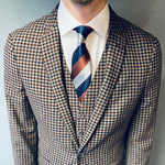 Remus Uomo Nico Brown Deep Red Check Jacket