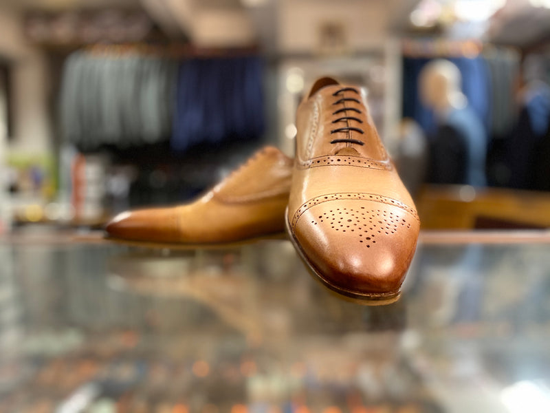 Lacuzzo Tan Schillaci Brogue Shoe